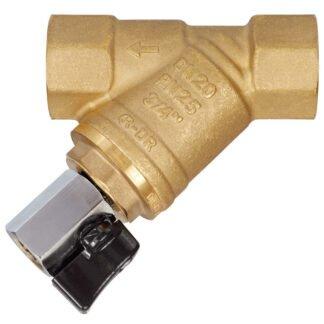 Фильтр сетчатый Y-образный латунь Ду 15 Ру25 ВР FVR-D со сли...
