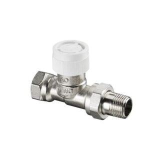 Вентиль AV 9 для термостатов прямой Ду15, 1/2 ВР x 1/2 НР