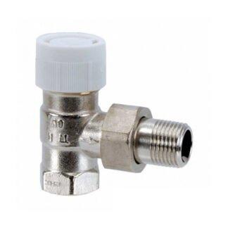 Вентиль AV 9 для термостатов угловой Ду15, 1/2 ВР x 1/2 НР
